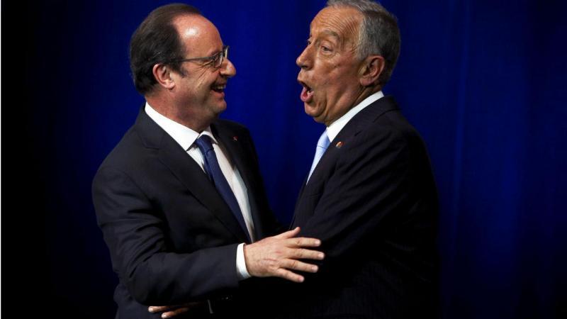 Marcelo Rebelo de Sousa e François Hollande