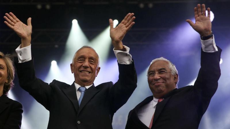Marcelo Rebelo de Sousa e António Costa em França