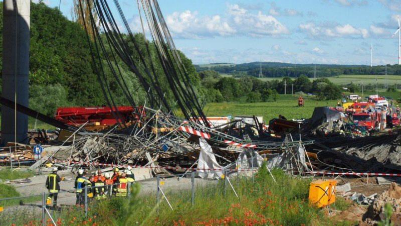 Viaduto de uma autoestrada cai na Alemanha e faz pelo menos dois mortos