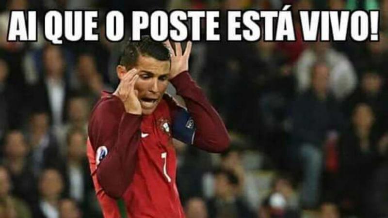 Cristiano Ronaldo falhou o penalti que podia dar vitória a Portugal