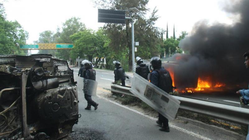 Protesto no México acaba em confrontos