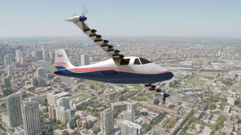 Avião elétrico x-57 Maxwell