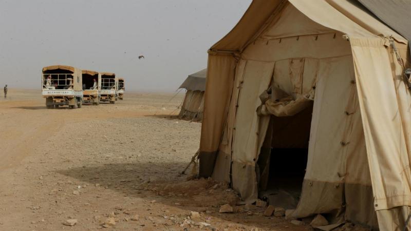 Campo de refugiados em Rakban, Jordânia
