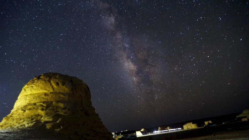Céu noturno em Wadi Al-Hitan, Egito