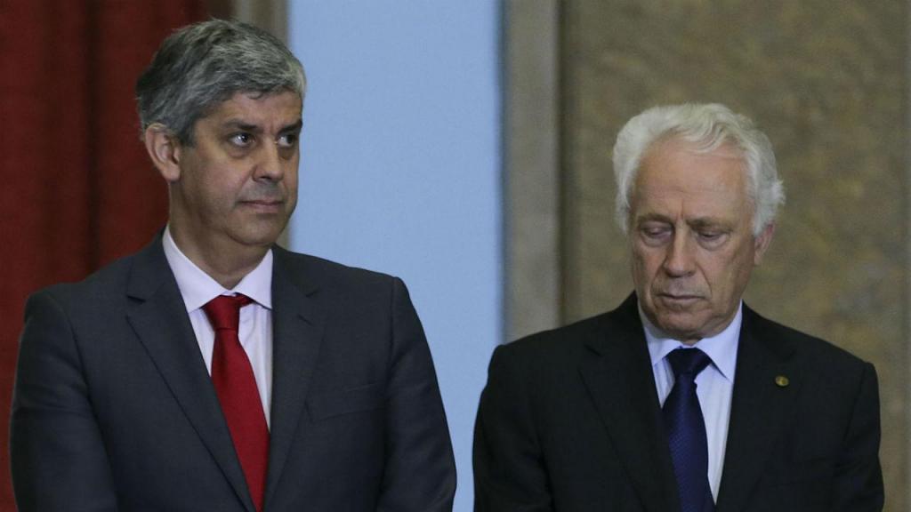 Mário Centeno e Carlos Costa