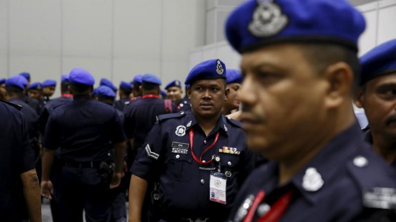 Polícia malaia
