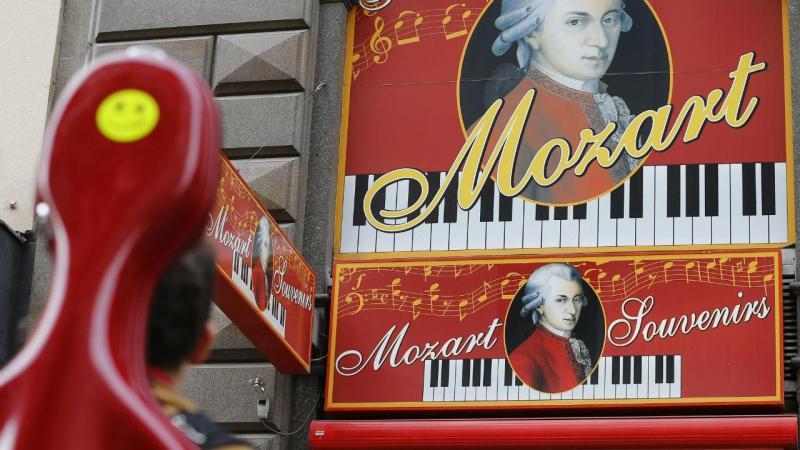Loja dedicada a Mozart, em Viena, Aústria