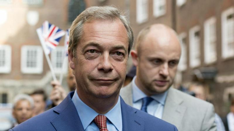 Nigel Farage, líder do UKIP, e que fez campanha pelo Brexit, na reação ao resultado do referendo