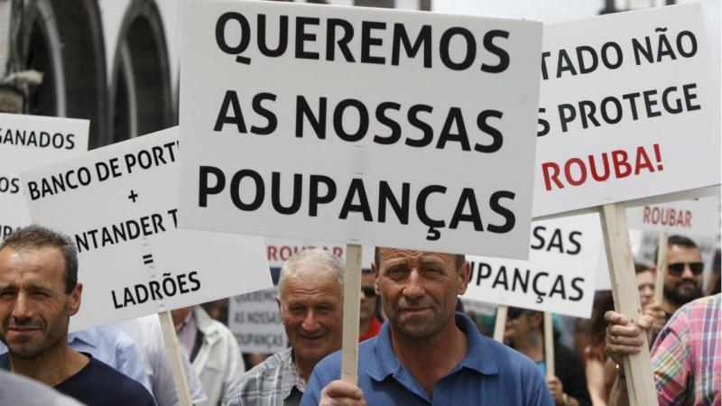 Manifestação dos lesados do Banif nos Açores