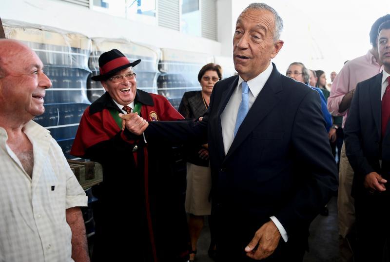 Marcelo Rebelo de Sousa na inauguração da Adega Cooperativa de São Mamede da Ventosa