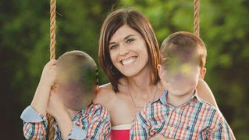 Jenna Wall com os filhos