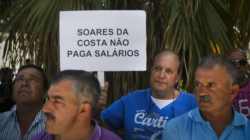 Concentração de trabalhadores da Soares da Costa