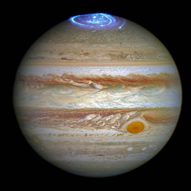 Aurora Boreal de Júpiter captadas pelo telescópio Hubble