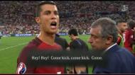 Revelado teor da conversa entre Moutinho e Ronaldo