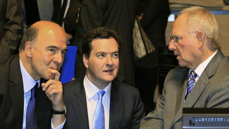 Pierre Moscovici, George Osborne e Wolfgang Schauble
