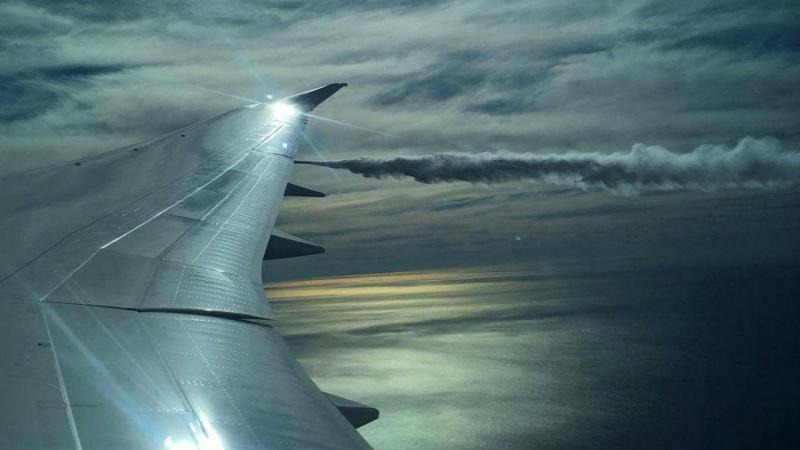 Boing 777 aterra de emergência depois de embater com pássaros