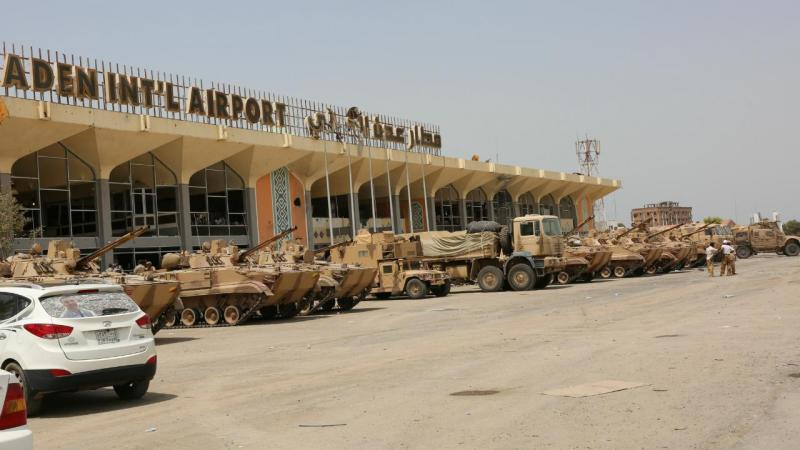 Aeroporto de Aden, no sul do Iémen