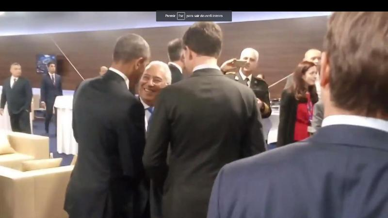 Barack Obama e António Costa
