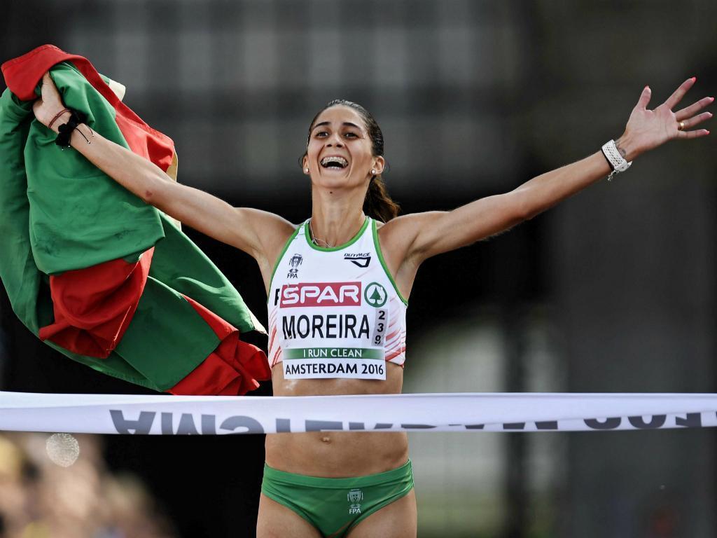 Sara Moreira campeã da Europa (EPA)