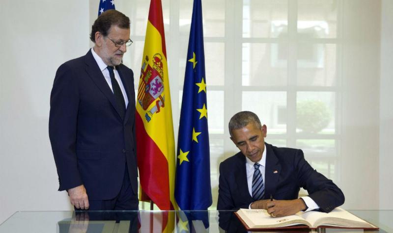 Barack Obama visita Espanha