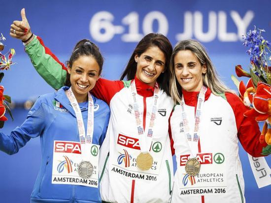 Sara Moreira e Patrícia Mamona conquistam medalha de Ouro