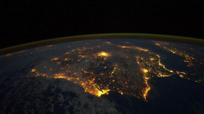 Península Ibérica vista do espaço