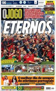Portugal campeão da Europa: as capas dos jornais