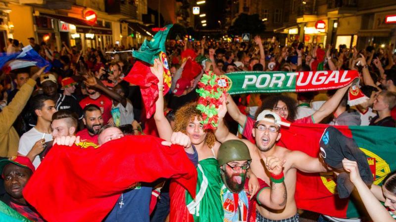 Portugal campeão europeu, festa na Suíça (Lusa)