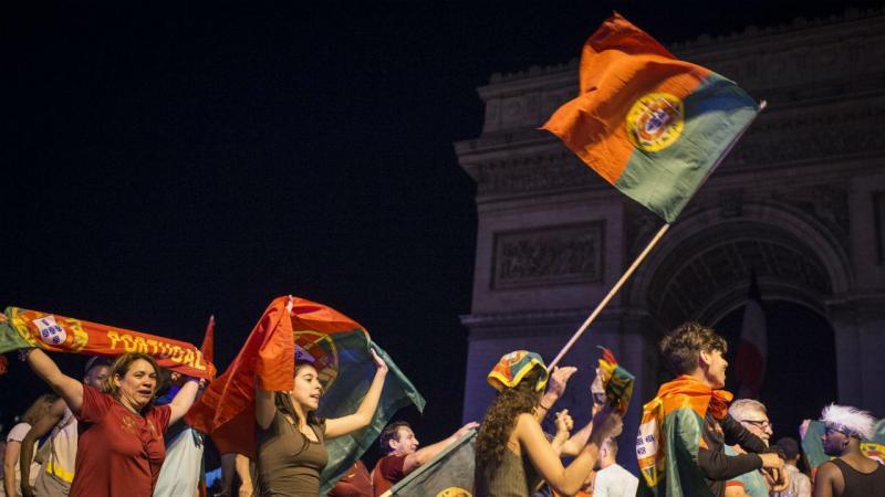 Portugal campeão europeu, festa em França (Lusa)