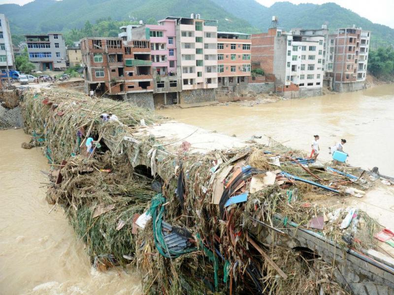 Estragos causado pelo tufão Nepartak em Fuzhou, China