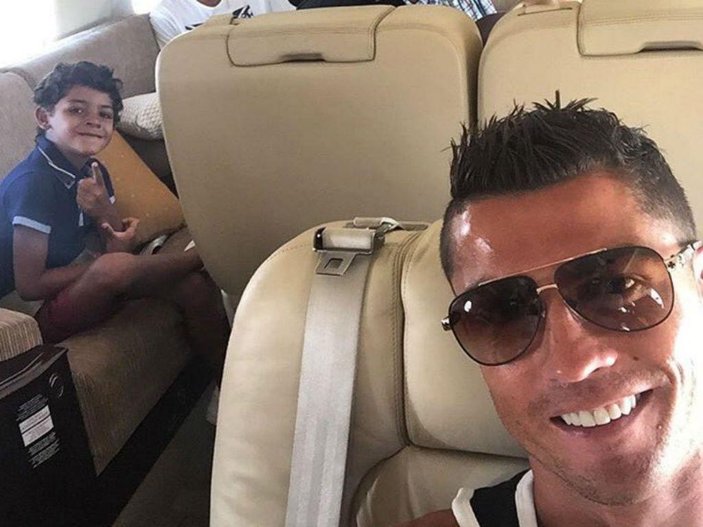Cristiano Ronaldo a caminho das férias