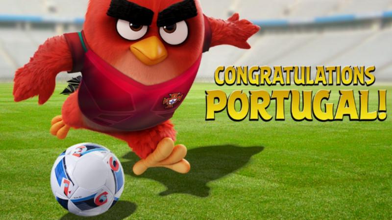 Agry Birds felicitam Portugal pela vitória do Europeu.