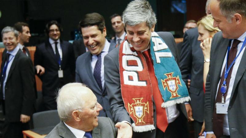 Wolfgang Schauble e Mário Centeno