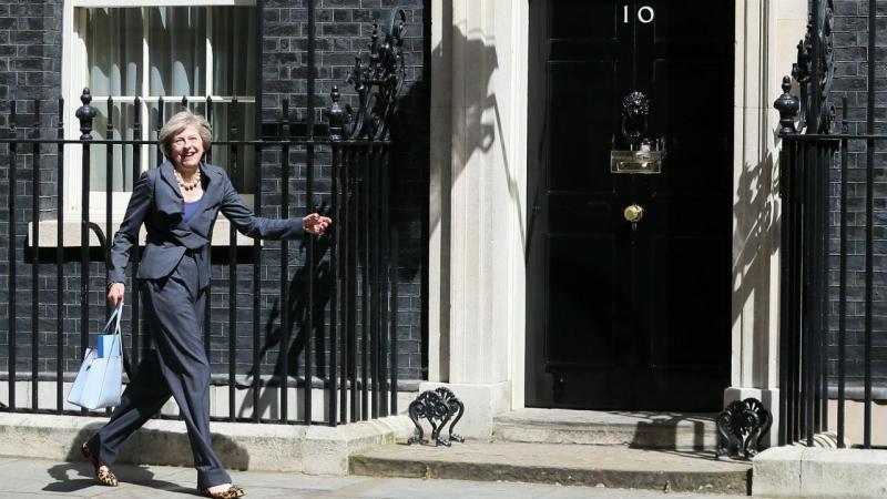 Theresa May a caminho do nº 10 Downing Street