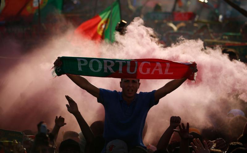 Fotos da vitória da Seleção Nacional.