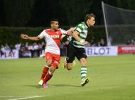 Coates e Falcao em jogo de pré-época (foto Monaco)