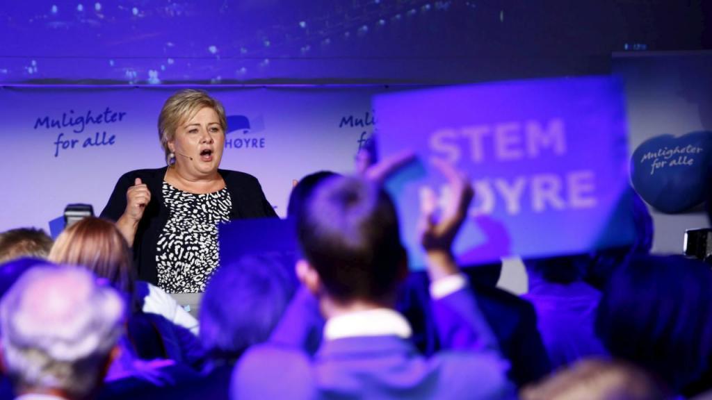 Erna Solberg, primeira-ministra norueguesa