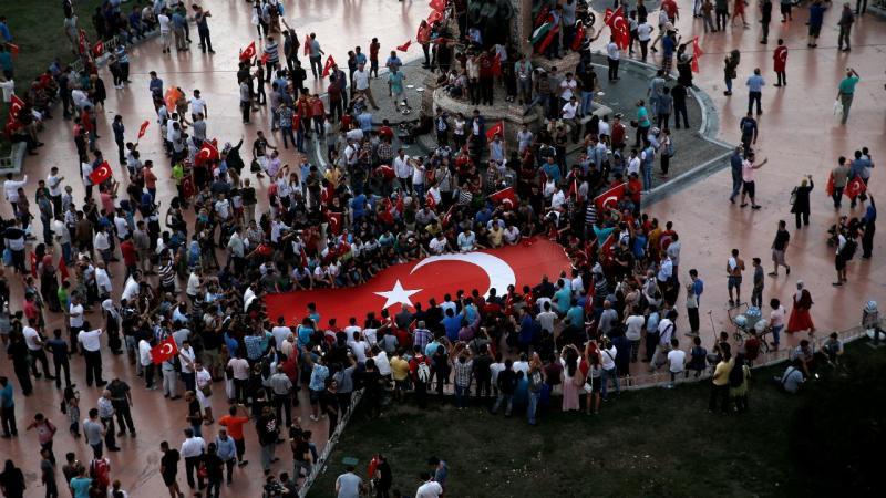 Multiplicaram-se as manifestações de apoio a Erdogan