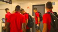 Veja a chegada dos jogadores do Benfica ao Aeroporto