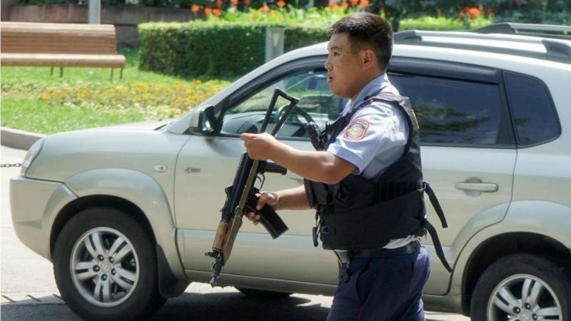 Polícia no Cazaquistão