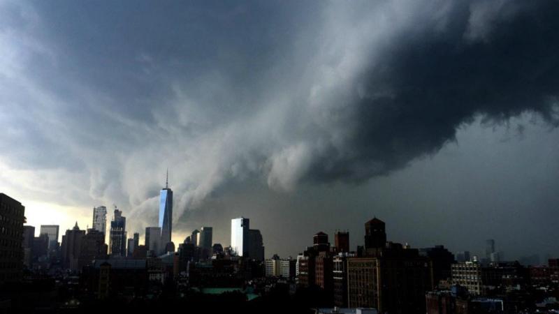 Tempestade assombra Nova Iorque