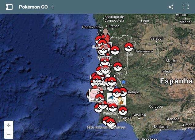 Mapa Pokemon Go