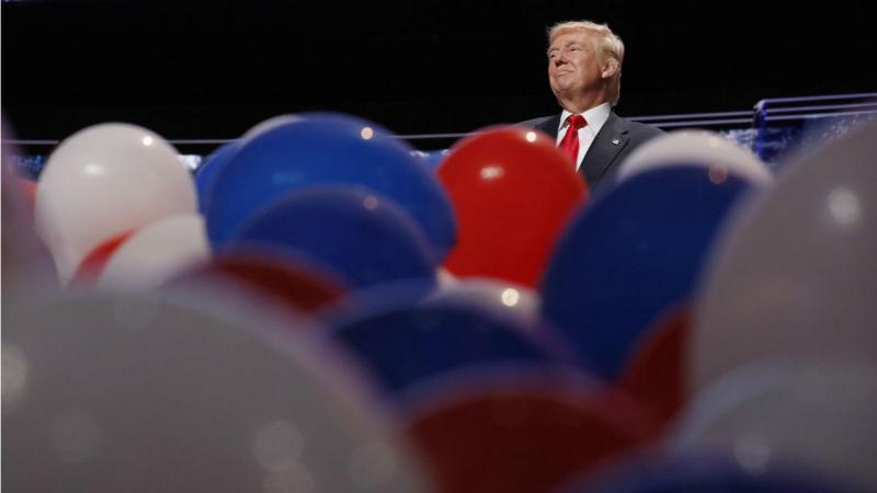 Donald Trump no final da Convenção do Partido Republicano