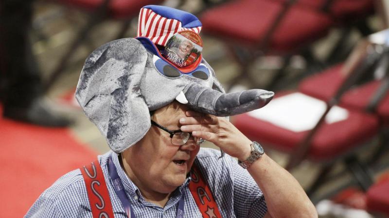 Republicanos durante Convenção em Cleveland