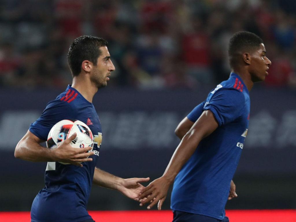 Mkhitaryan marcou à antiga equipa (Foto MU)