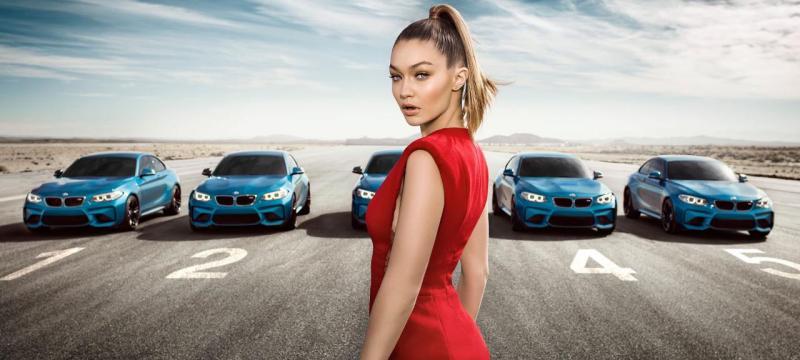 Gigi Hadid e o BMW M2 Coupé