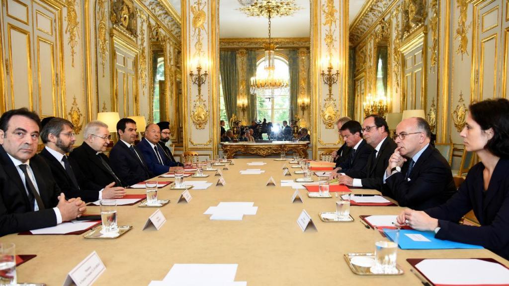 Encontro de François Hollande com os líderes das confissões religiosas