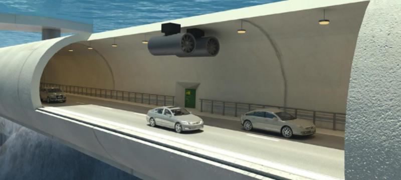 Noruega projeta tuneis suspensos debaixo de água