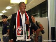 Bruno Alves na chegada a Cagliari