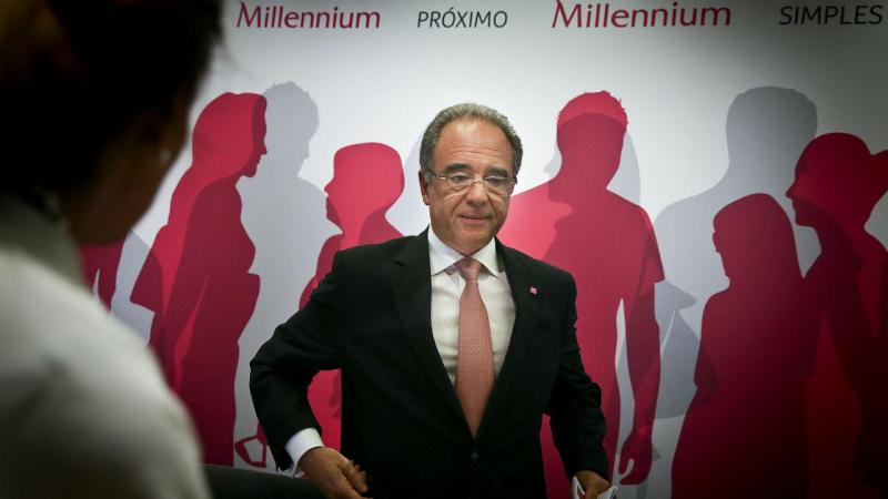 Nuno Amado, presidente do Millennium BCP, durante a conferência de imprensa para apresentação dos resultados do 2º trimestre de 2016